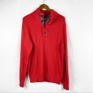 TOMMY HILFIGER Men's Red Sweater in Size Large